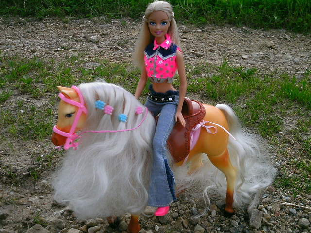horse riding barbie doll and her mare quottawnyquot flickr