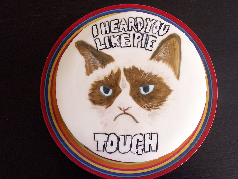Grumpy Cat Birthday Cake for Ian Ians Grumpy Cat cake Pa Flickr