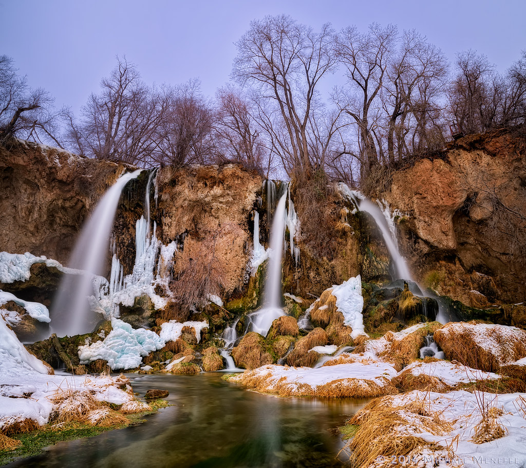 Winter At Rifle Falls State Park, Colorado