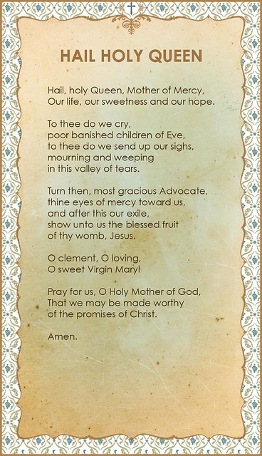 Tactueux image pertaining to hail holy queen prayer printable