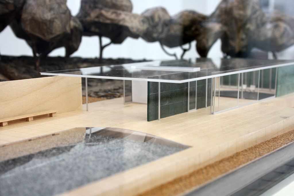 Model of barcelona pavillon by ludwig mies van der rohe
