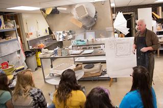 Bill Forst in ceramics studio