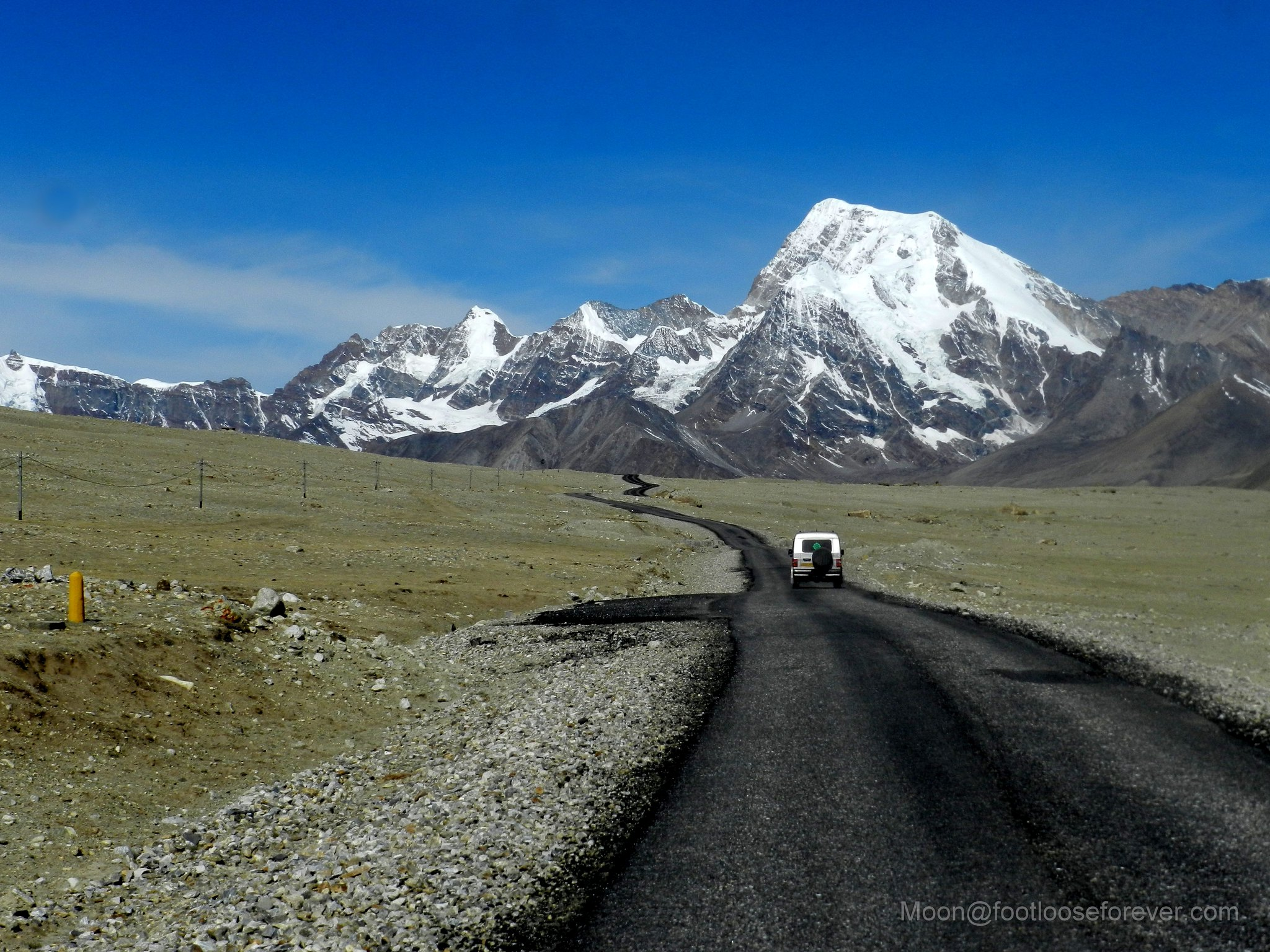 way to gurudongmar, north sikkim, himalayas