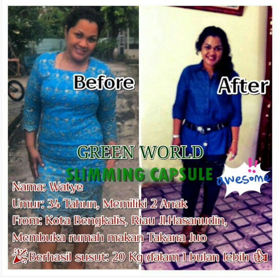 Harga Asli Slimming Capsule Green World