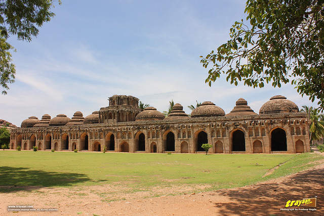 Elephant Stables near Zenana Enclosure, Hampi, Ballari district, Karnataka, India