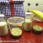 Schoko-Bananen-Porridge zum Mitnehmen