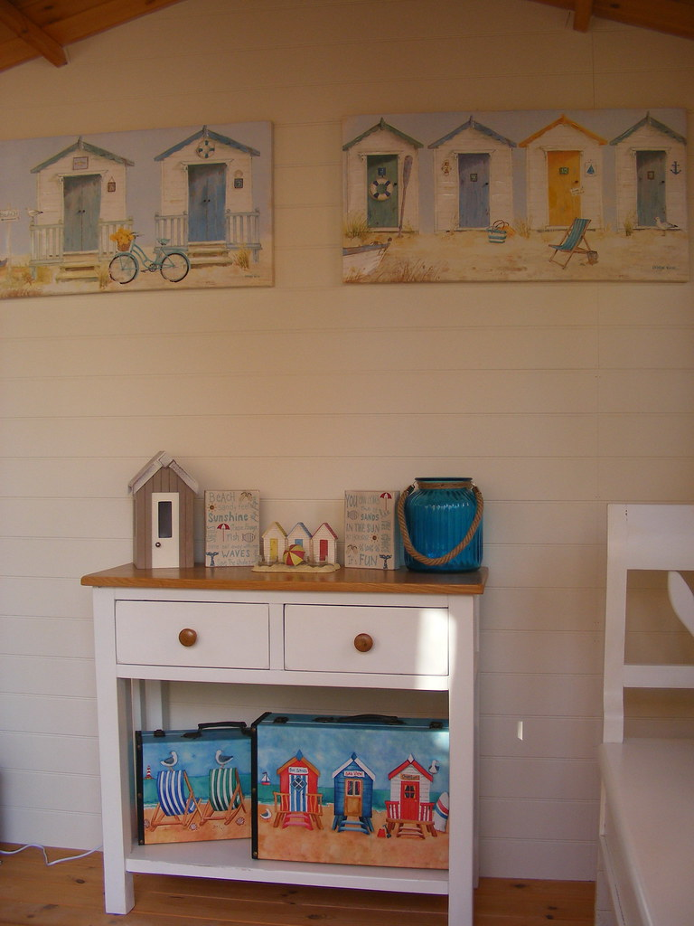 My beach hut style summerhouse main summerhouse wall for Beach hut style