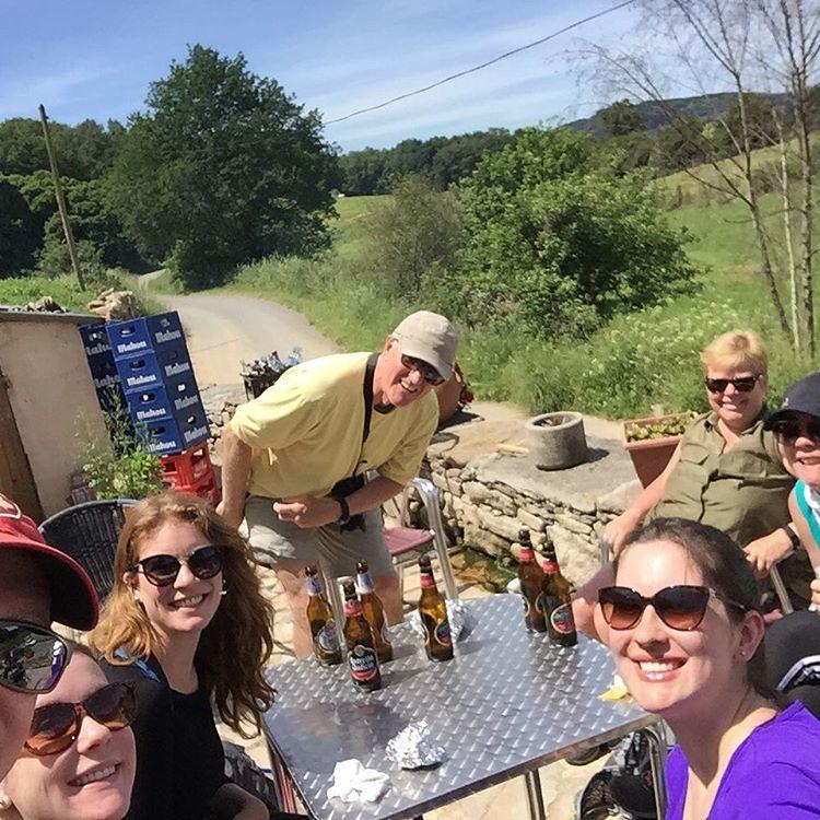 Bocadillos And Cerveza On The Terraza Caminodesantiago