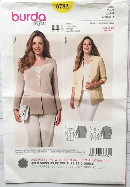 Burda 6782 jacket pattern env