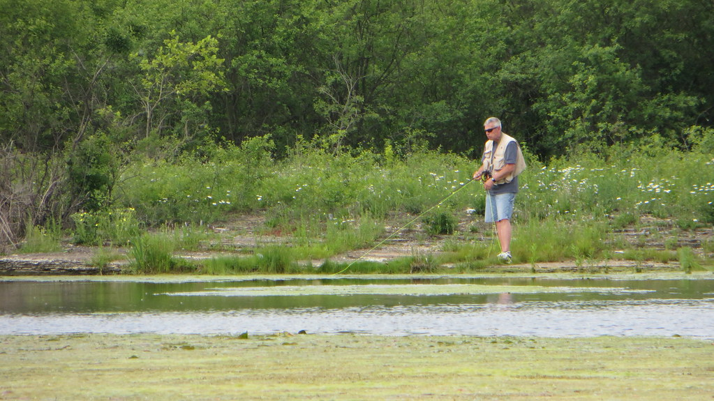 Guy Fly Fishing At Sag Quarry Took A Picture Of This Guy