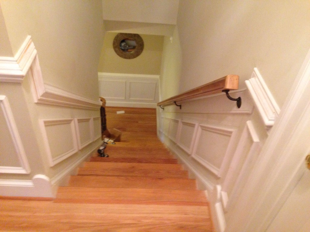 Shadow Box Wainscoting On Both Sides Of Staircase Flickr