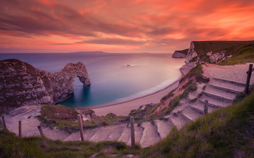Durdle Door At Sunset Hello My Lovely Flickr Friends I