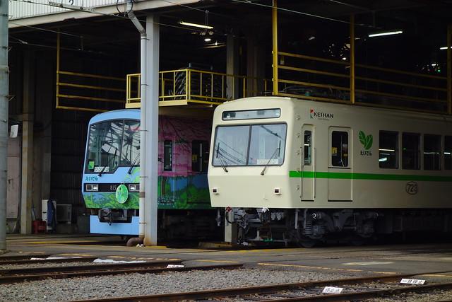2016/07 叡山電車723号車?と悠久の風こもれび