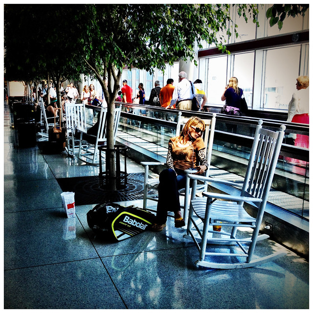 The Charlotte-Douglas International Airport rocking chairs…  Flickr ...