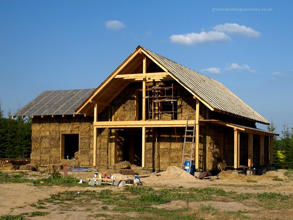 Straw Bale House Construction Straw Bale Homes Are Warm
