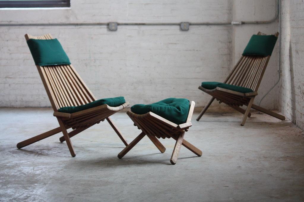 On Deck Interesting Vintage Danish Modern Teak Foldi