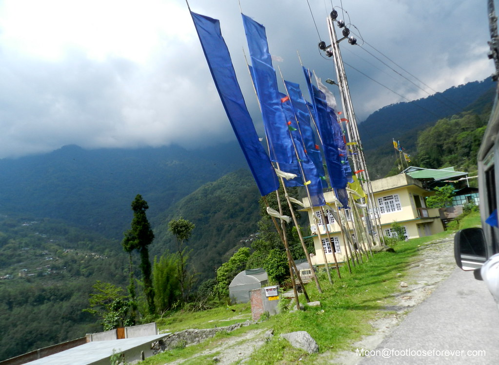 blue prayer flags, Gangtok, Sikkim