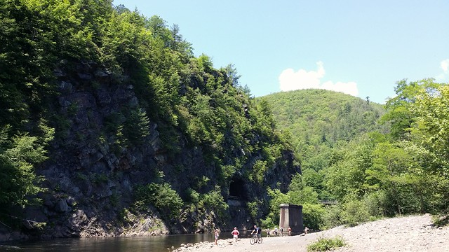 Mountain with a hole in it. Jim Thorpe PA