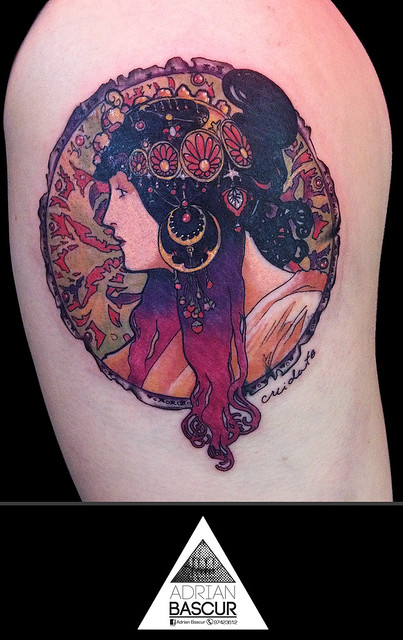 Art Nouveau Tattoo Design By Tegan Ray: Flickr - Photo Sharing