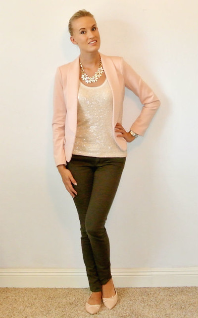 Outfit- Blush Pink And Olive Green 1 | Flickr - Photo Sharing!