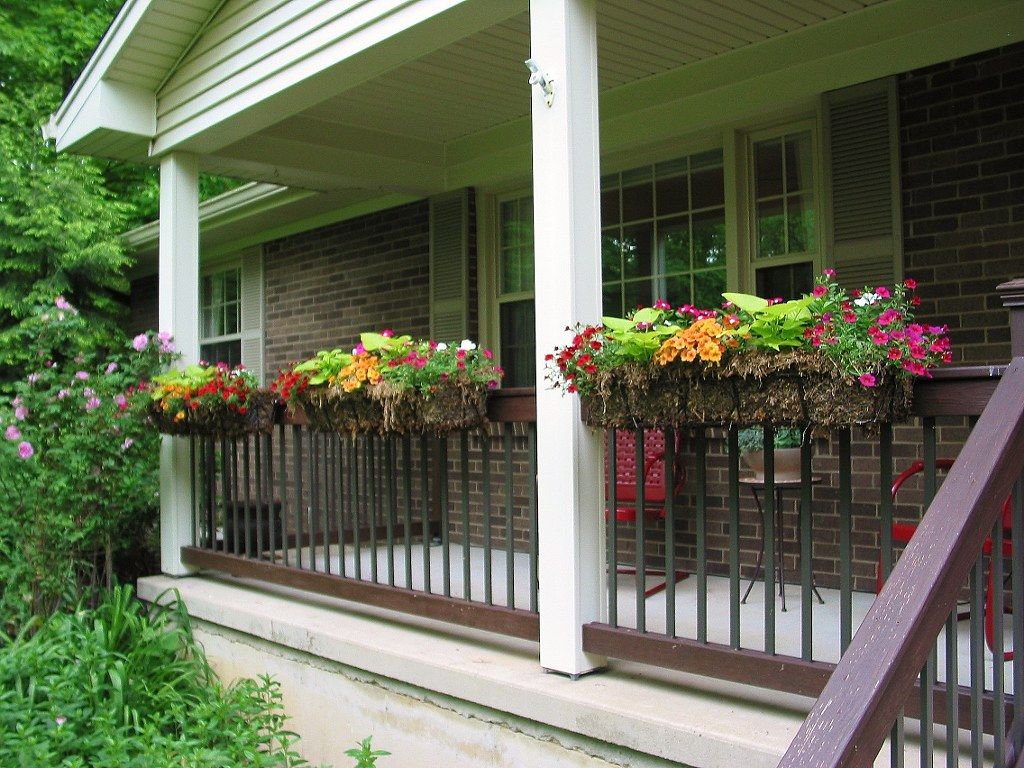 Porch Railing Planters Niesz Vintage Fabric Flickr