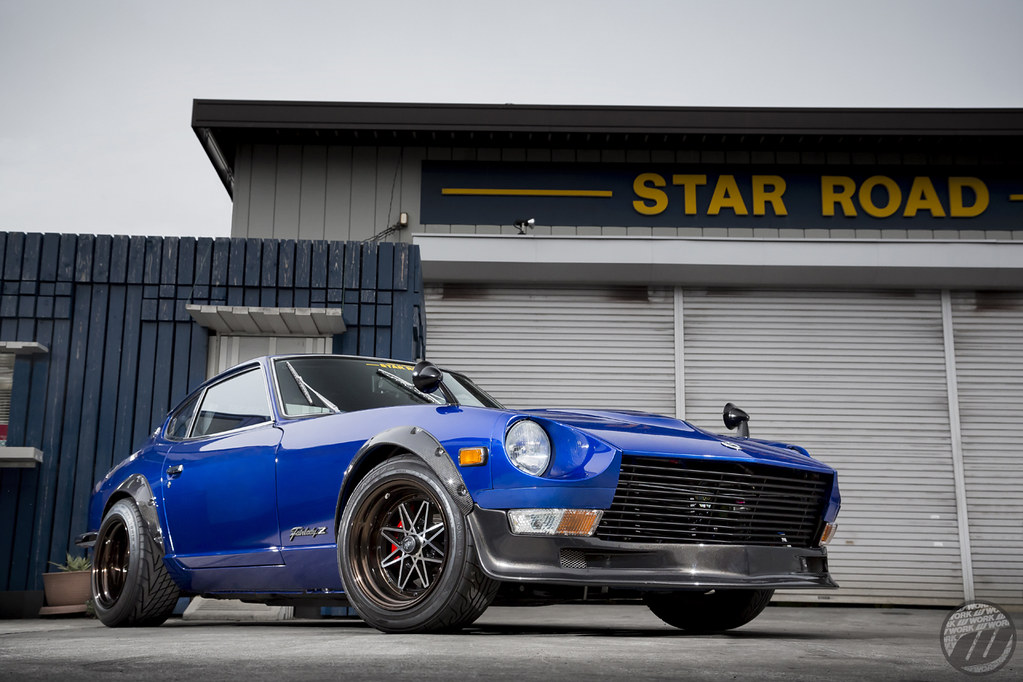 Star Road Nissan Fairlady 240z On Work Equip03 F 15x8 5j