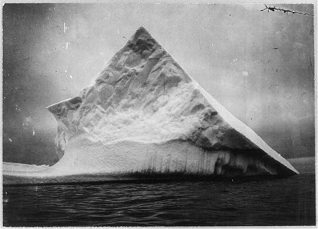 an iceberg near head of Trinity Bay, Newfoundland, taken sometime between 1900-1920