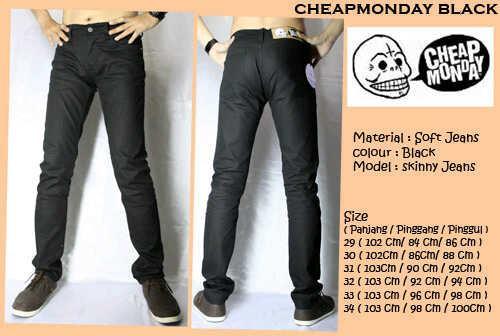 Celana Jeans - Cheapmonday - Black - size 30