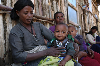 Weynitu Demissie, 34, has a 7 months old daughter who is recovering from acute malnutrition
