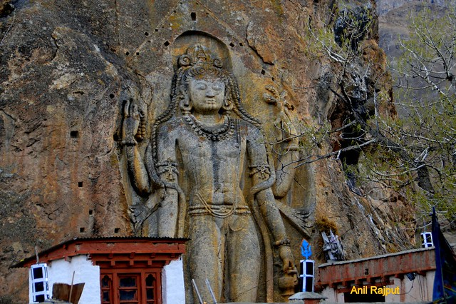 Lord Buddha's statue at Mulbek village Kargil