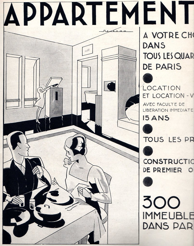 The 1930s 1930 Ad For Appartments Mo Flickr