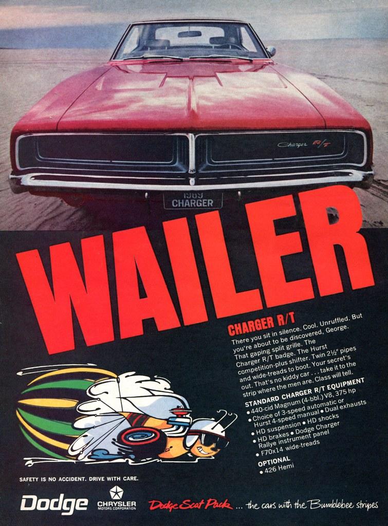 1969 Chrysler Dodge Charger Rt Wailer Advertising Hot Rod
