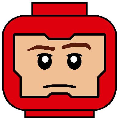 LEGO DC Firestorm head decal   zaioshima123   Flickr: https://www.flickr.com/photos/99492097@N02/12109411876