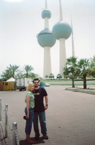 Will & Britt by Kuwait towers-May 2005
