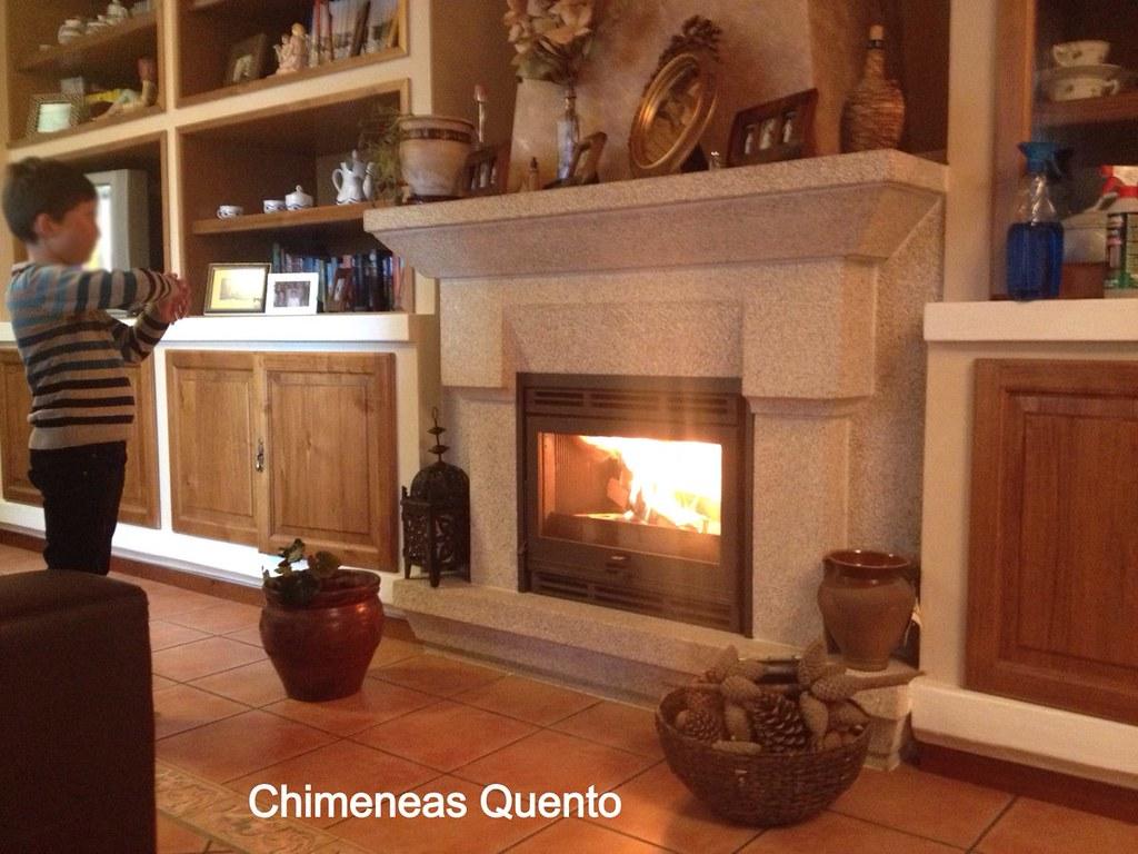 Insert dovre 2200 en revestimiento de granito www - Chimeneas quento ...