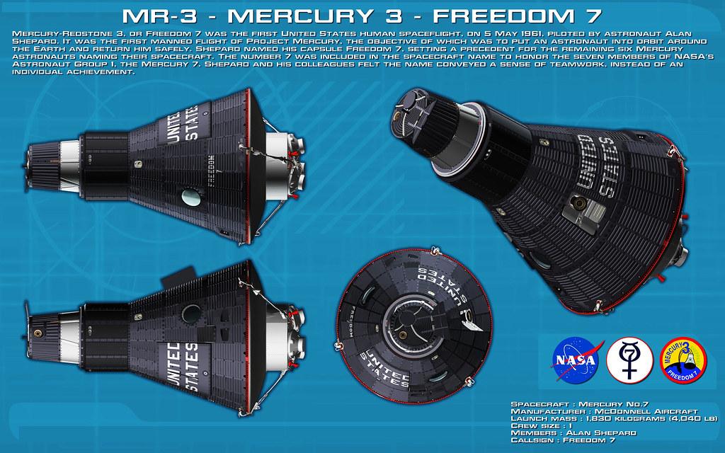 "Mercury (MR-3) Capsule, ""Freedom-7"", James R Basset (devia ..."