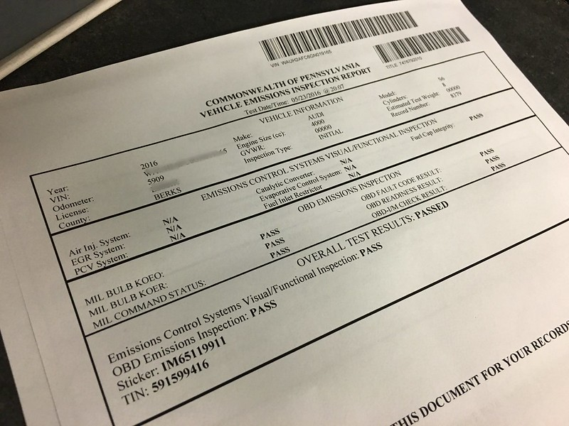 2016 Audi S6: Emissions Testing in PA