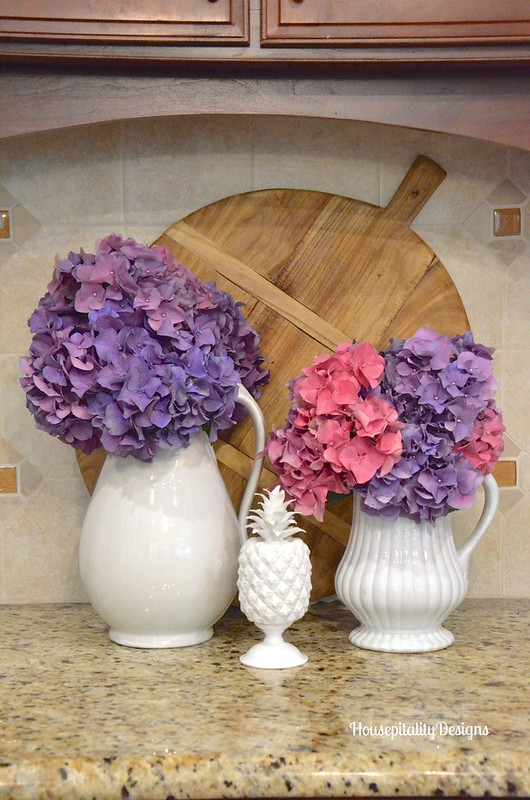 Ironstone Pitchers/Hydrangeas - Housepitality Designs