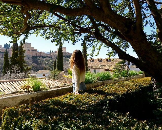 Vistas de Granada desde el Carmen de la cuesta del Chapiz, una auténtica maravilla