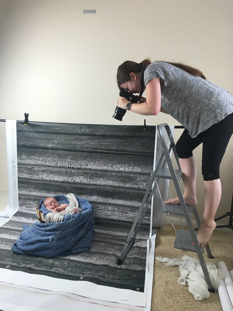 Behind the scenes newborn shoot