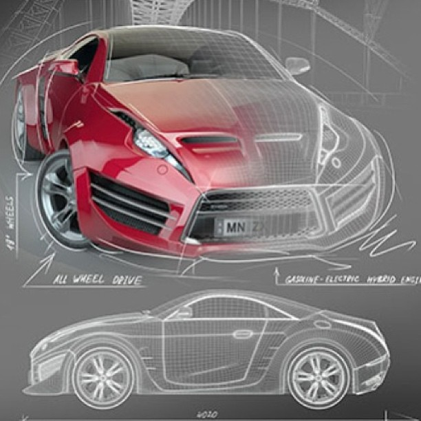 Autocad 3D Car Design