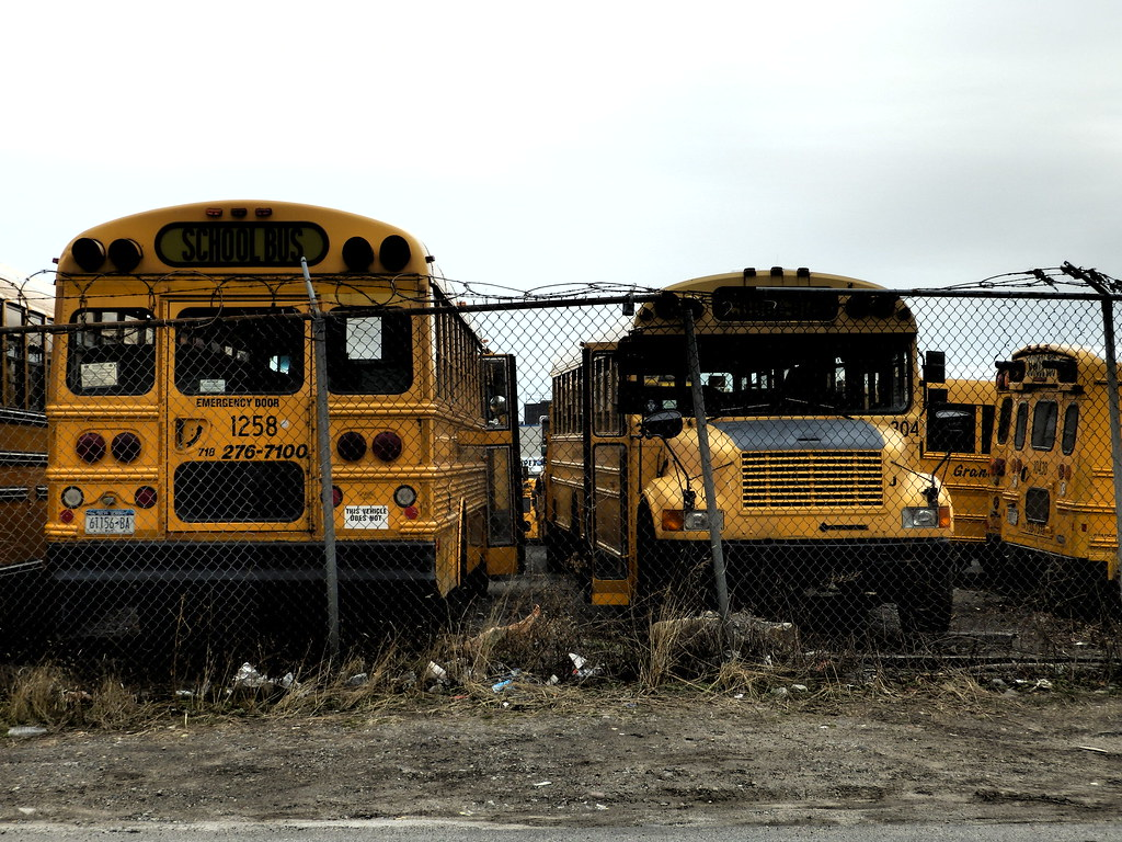 School Bus Graveyard Hundreds Of Yellow Buses In Varying