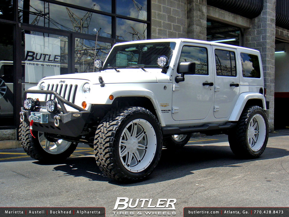 Jeep Wrangler With Custom 22in Fuel Hostage Wheels Flickr