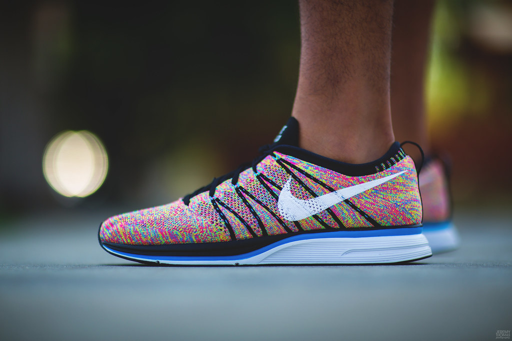 nike flyknit trainer multicolor
