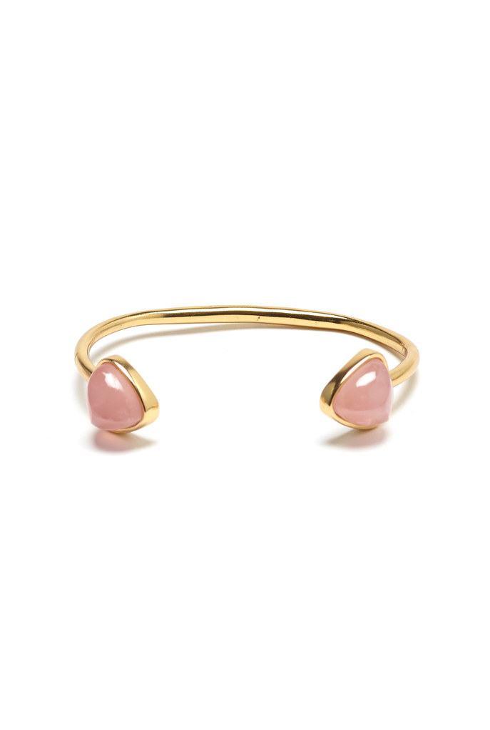 Inca Cuff in Rose Quartz
