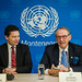 Deputy UN Secretary General Jan Eliasson with the UN staff in Montenegro | Photo: Miloš Vujović