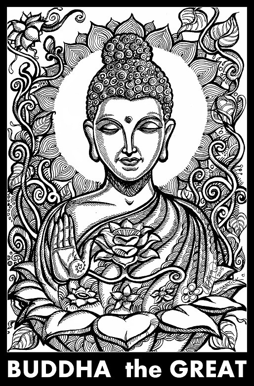 buddha illustration buddha gautama buddha painting drawing art illus 5458