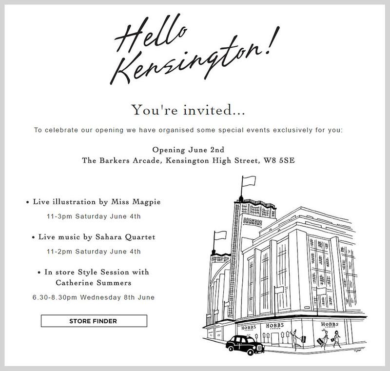 Hello Kensington: The opening of the new Hobbs store in Kensington High Street