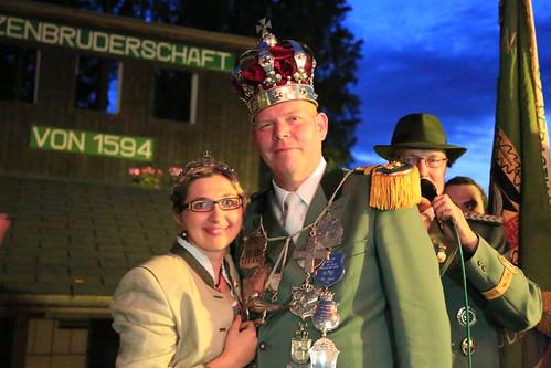 Schuetzenkönigspaar Bettina und Andreas Koehler