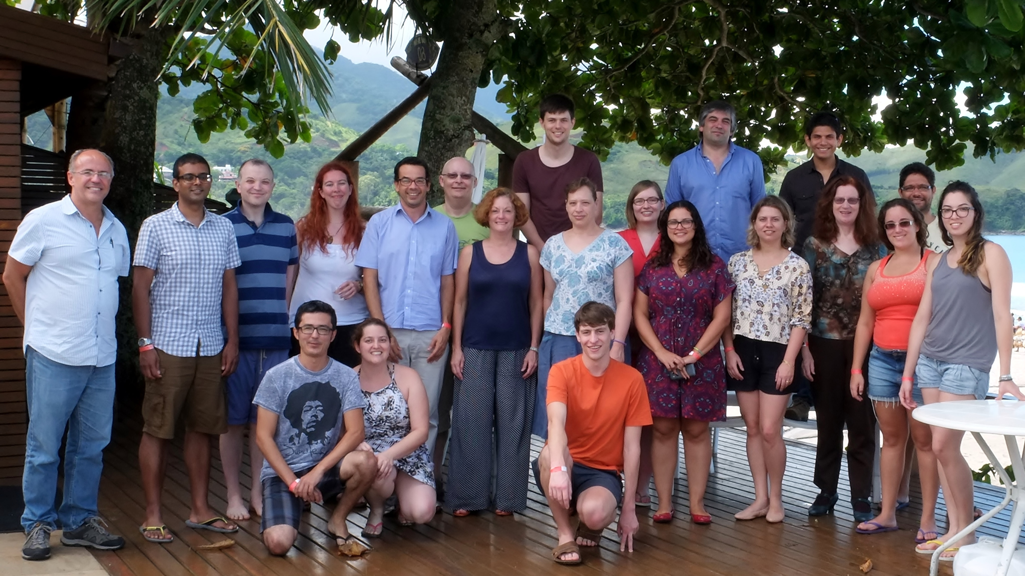 Participants of the Global Innovation Initiative project at a workshop in Brazil